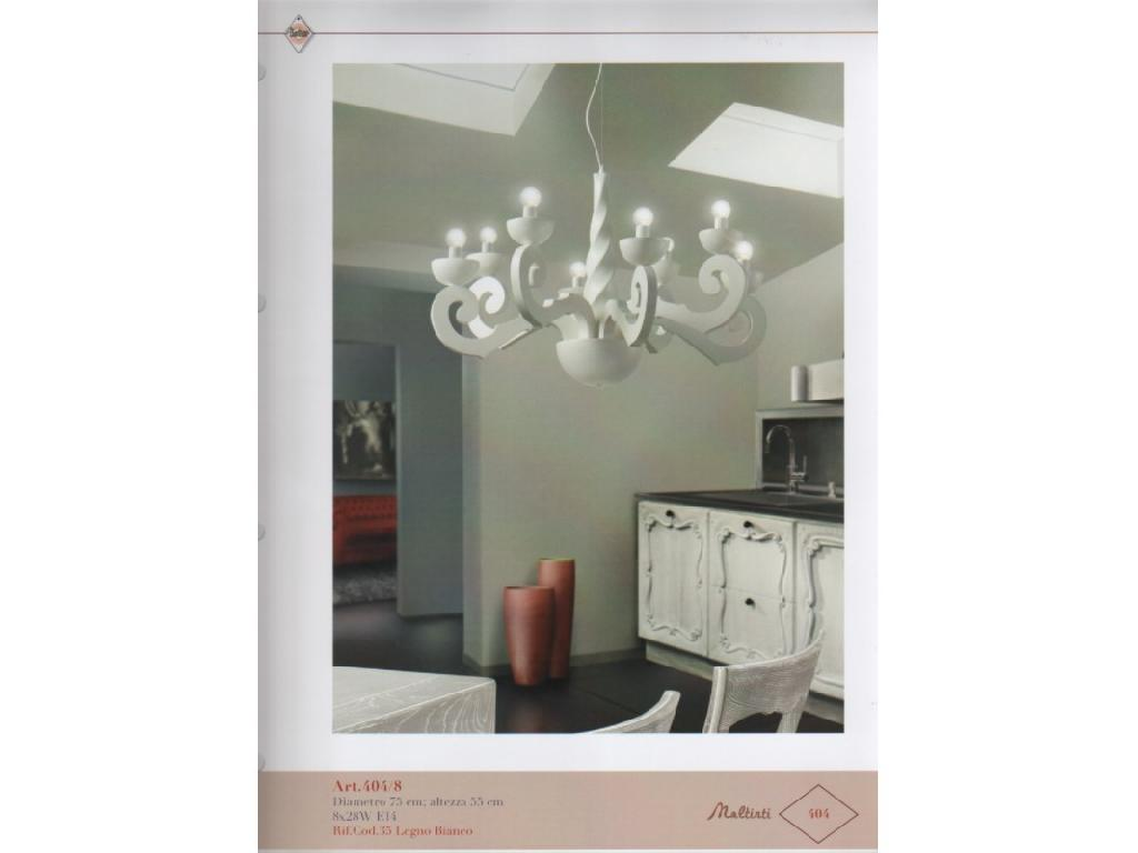 Lampadario Bianco Legno : Lampadari lampada a sospensione 4048 lampadario legno maltinti 8l